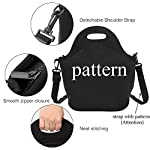 Neoprene Lunch Bag, Rough Collie Dog Insulated Lunch Box School Picnic Thermal Carrying Gourmet Food Container Organizer, Lunch Bags for Kids, Girls, Boys and Women 9