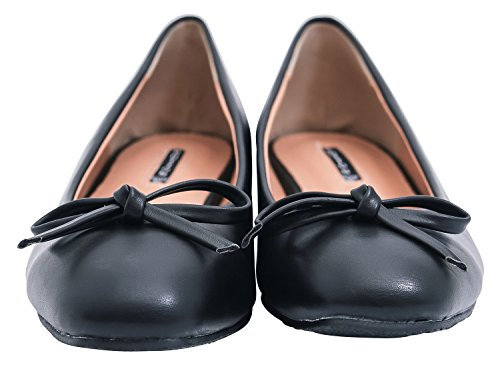 Womens Shoes with Leather Vegan Bow Daily Low Classic AnnaKastle Pumps Heel SZ1dqqRw