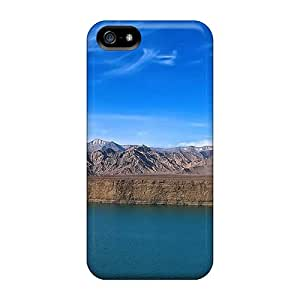 Premium Beautiful Lake Next To Rocky Mountains Back Covers Snap On Cases For Iphone 5/5s