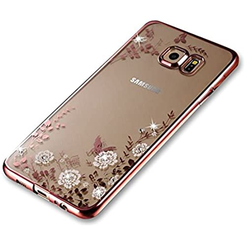Samsung Galaxy S7 Case [with Free Screen Protector], FunPlus Bling Sparkle Rhinestone (Rose Gold) Electroplate Sales