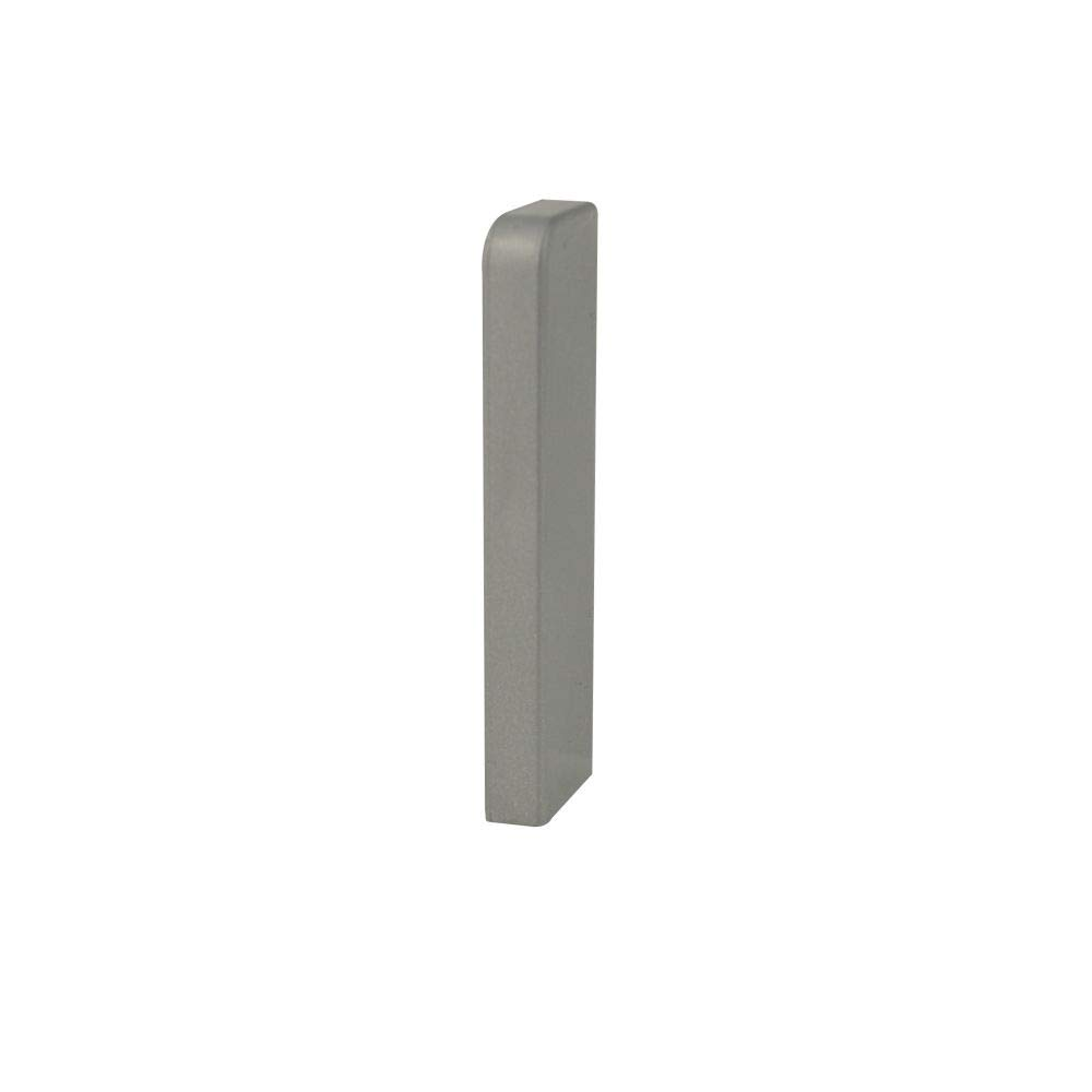 Trevendo/® 10 St/ück Innenecke silber f/ür Sockelleiste Fu/ßleiste geschwungen 40 mm H/öhe