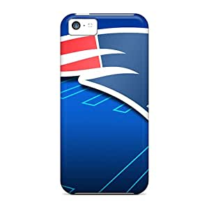 Waterdrop Snap-on New England Patriots Nfl Team Logo Case For Iphone 5c