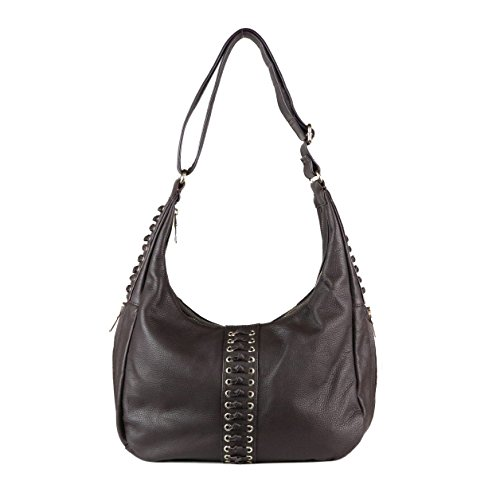 Concealed Carry Purse - The Louise Knotted Hobo by Miss Conceal (Dark Brown) by Miss Conceal