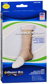 Sport Aid Double Strap Ankle Support XL - 1 ea., Pack of 6