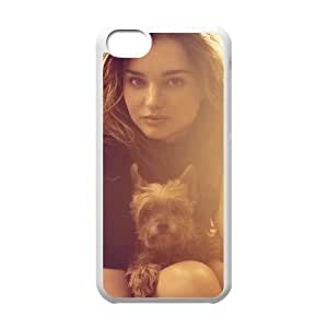 Popular And Durable Designed TPU Case With Miranda Kerr_009 FOR iphone 5c Cell Phone White Case