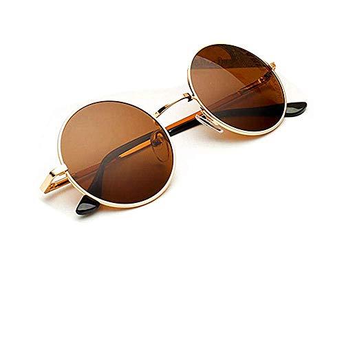 KATCOCO John Lennon 60's Hippie Circle Sunglasses punk Round Retro Colored ()