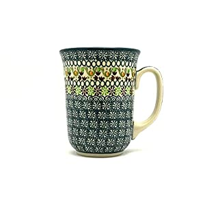 Polish Pottery Mug – 16 oz. Bistro – Mint Chip