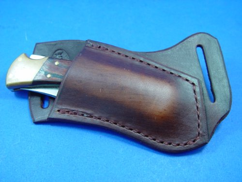 Custom Right Hand Cross Draw Leather Knife Sheath for Buck 110