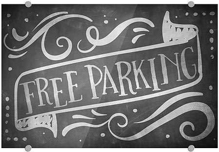 36x24 Free Parking Chalk Banner Premium Acrylic Sign CGSignLab