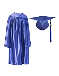 GGS Shiny Kindergarten Graduation Cap and Gown Tassel Set with 2019 Year Charm with 2019 Year Charm