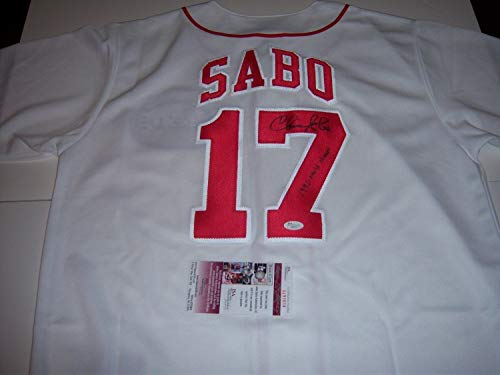 i Reds 1990 World Series Champs JSA Autographed Signed Jersey - Certified Authentic ()