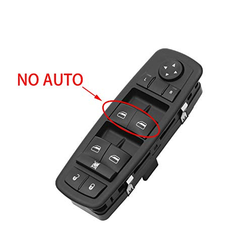 Master Power Window Switch Front Left Driver Side   for Dodge Journey Caravan Grand Caravan, Chrysler Town & Country, Jeep Liberty Grand Cherokee   Replaces# 68039999AA, 68039999AB, 68039999AC