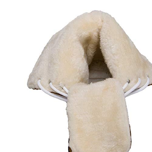 Scamosciata Neve Stivali A Donna Alto Scarpe Beige Vovotrade Quadrato Punta ✿ Rotonda Pelle Da Moda In Tacco O4x8zWSPqw