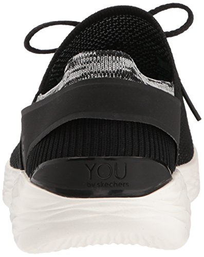 Skechers Damen You-spirit Slip On Sneaker, Marineblau Schwarz (bkw Nero / Bianco)
