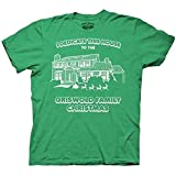 Christmas Vacation Dedicate This House Green Adult T-shirt Tee (Small)