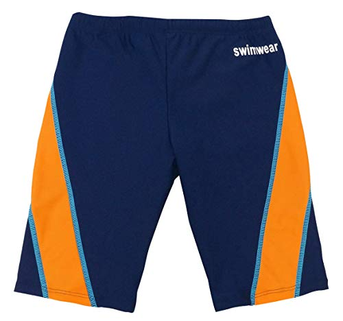 Boys'Jammer Swimsuit Quick Dry Sun Protection Drawstring Surfing Beach Elastic Waistband Mesh Lined Competition Swim Shorts Swimsuits Size 4t Orange & Blue
