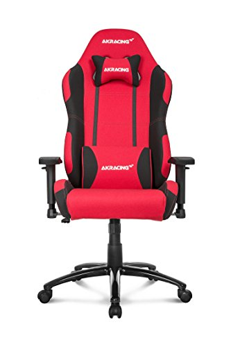 Price comparison product image AKRacing Prime Series Premium Gaming Chair with High Backrest,  Recliner,  Swivel,  Tilt,  Rocker and Seat Height Adjustment Mechanisms with 5 / 10 warranty Red