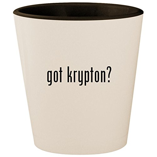 got krypton? - White Outer & Black Inner Ceramic 1.5oz Shot Glass