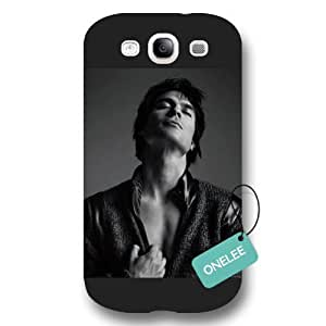 The Vampire Diaries Ian Somerhalder Black Frosted For LG G2 Case Cover Protective &Black 7