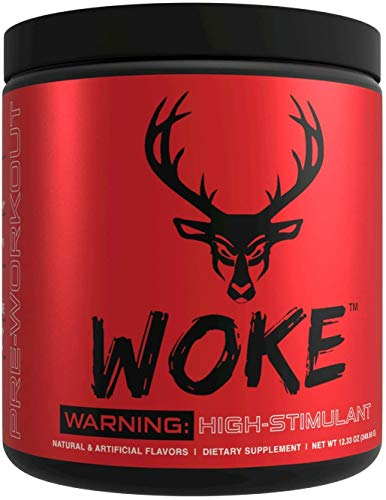 Bucked Up - Woke - HIGH STIM Pre Workout - Best Tasting - Focus Nootropic, Pump, Strength and Growth, 30 Servings (Grape)
