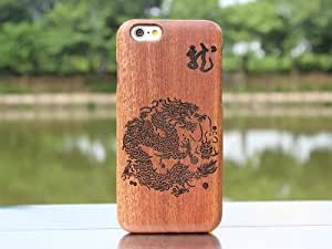 iPhone 6 5.5 inch case,iPhone 6 Plus Cover,Ezydigital Carryberry Wood Skin Case for iPhone6