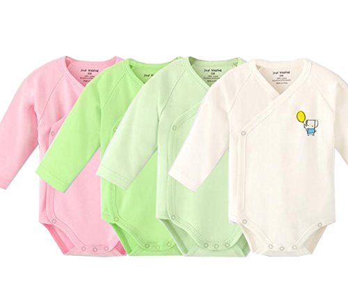 - Infant Baby Boys Girls Long Sleeves Onesies Cotton Side Snap Bodysuit Fall Winter Cloths Outfit (4-Pack, 0-3 Months)