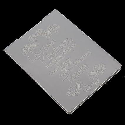 Amazon Plastic Embossing Folder For Scrapbook Theme Stencil