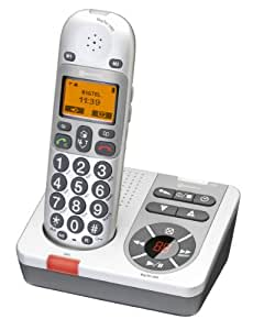 Amplicomms BigTel 280 - Teléfono inalámbrico con contestador automático (importado)