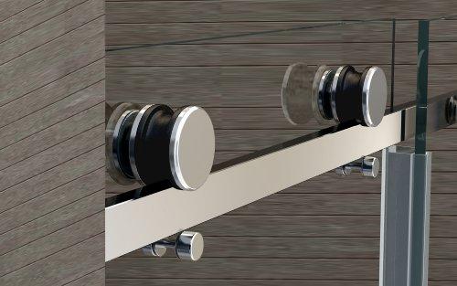 8 mm Nischen- / Schiebetür MORA 100 x 195 cm: Amazon.de: Baumarkt | {Duschabtrennung nische schiebetür 67}