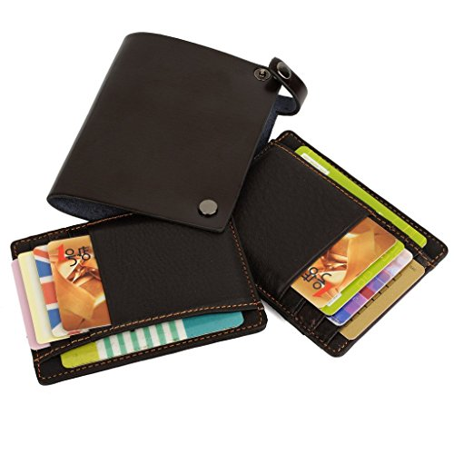 YALUXE Mens Compact Leather Holders