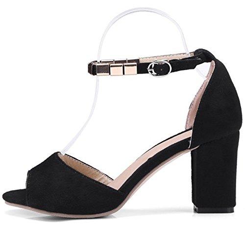 Coolcept Women Fashion Peep Toe Sandals Heels Black b9M5xL78l