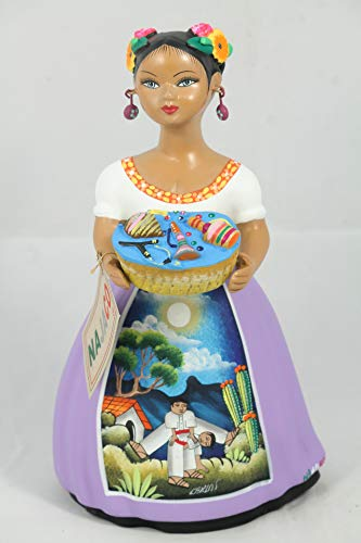 - NAJACO Lupita Doll Mexican Ceramic Toy Basket (Lilac)