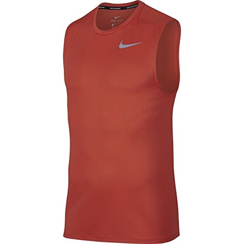 Tee Sleeveless Mens Boston (Nike Men's Sleeveless Running Top (L, Rush Coral))