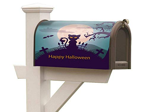 Magnetic Mailbox Decals Ornament Anti-Fade on Festive Occasions Mailbox Alert Signal Happy Halloween 31 oct fit a Standard (T1) Rural Mailbox