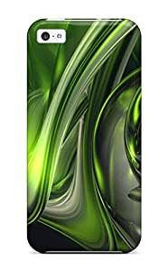 Tpu Case Cover Compatible For Iphone 5c/ Hot Case/ Abstract Green