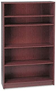 product image for HON 1870 Series Bookcase, 5 Shelves, 36 W by 11-1/2 D by 60-1/8 H, Mahogany