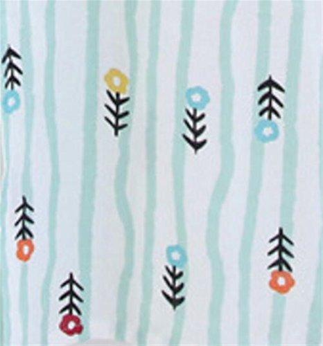 L Accappatoio a in cotone OHlive Green maniche cotone floreale Colore lunghe Light stampato traspirante da donna con Green stampa Light in Dimensione H0wwdpI