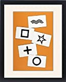 Framed Print Of Esp/zener Cards