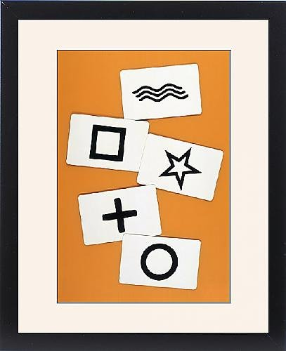 Framed Print Of Esp/zener Cards by Prints Prints Prints