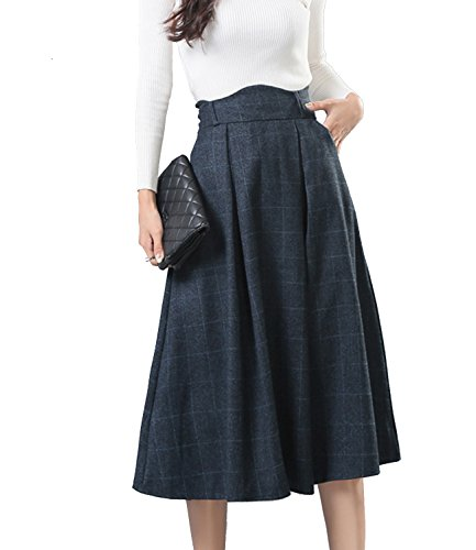 Vintage Wool Plaid Skirt - 8