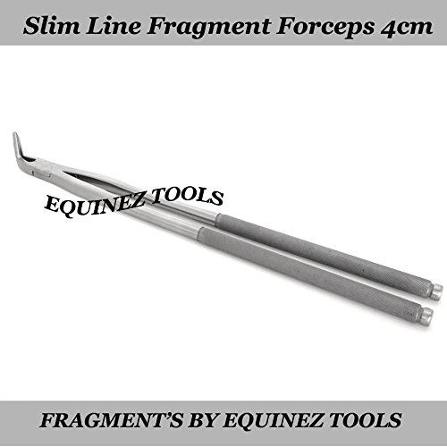19  Equine Slim Line Fragment Forceps 4cm Pouch, Stainless Steel Dental Equine