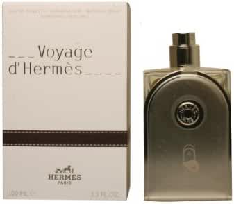 Voyage D'Hermes by Hermes Eau-de-toilette Refillable Spray for Unisex, 3.30-Ounce