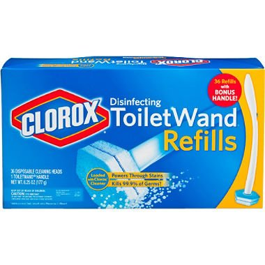 CLOROX Toilet Wand Disposable Disinfecting Refills, 36 Re...