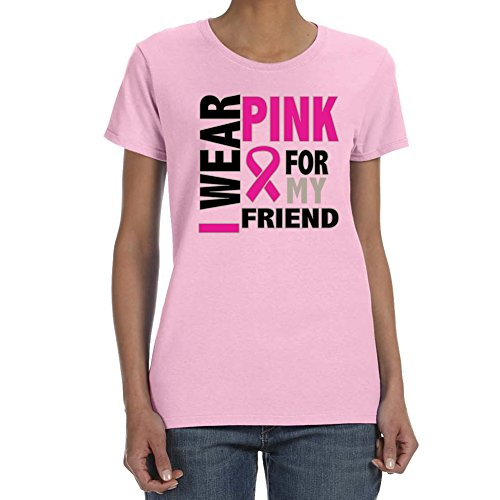 Women's Pink For My Friend Breast Cancer AwarenessLight Pink T-Shirt (Large)