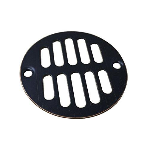 Designers Impressions 651729 Oil Rubbed Bronze Screw-In Shower Drain Strainer - 3-3/8'' Diameter by Designers Impressions