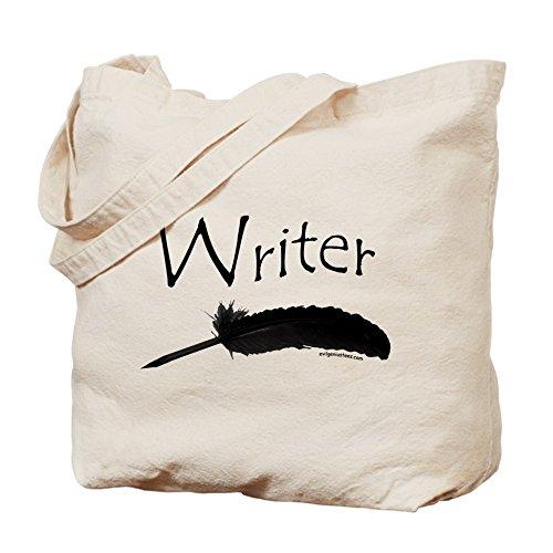 CafePress escritor de–con pluma–Gamuza de bolsa de lona bolsa, bolsa de la compra