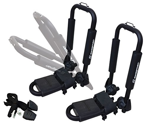 Swagman Bicycle Carriers Folding Contour Single Kayak Holder Fits Round, Square and Oval Cross Bars, Black