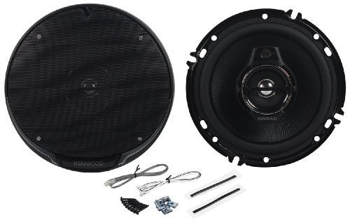 "Pair of Kenwood KFC-1695PS 6.5"" 320 Watts Peak Per Speaker (640 Watts Peak Per Pair) 3-Way 4-Ohm Car Speakers with Acoustic Sound Harmonizer Technology"