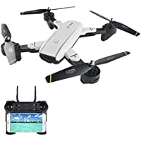 LTC SG700 V-SIGN Auto Selfie Optical Flow FPV RC Mini Drone with 2.4G WIFI Dual 720P 2MP HD Camera Live Video, Altitude Hold Foldable Quadcopter with Two Batteries for Beginners