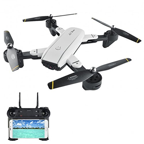 LTC SG700 V-SIGN Auto Selfie Optical Flow FPV RC Mini Drone with 2.4G WIFI Dual 720P 2MP HD Camera Live Video, Altitude Hold Foldable Quadcopter with Two Batteries for Beginners by LEANINGTECH